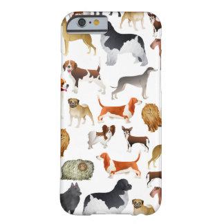 Design bonito do papel de parede do cão de capa barely there para iPhone 6