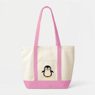 Design bonito do pinguim dos desenhos animados bolsa para compras