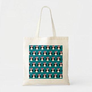 Design bonito do saco de bolsas do Xmas do pinguim