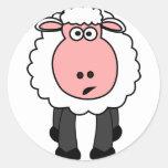 Design bonito dos carneiros adesivos redondos