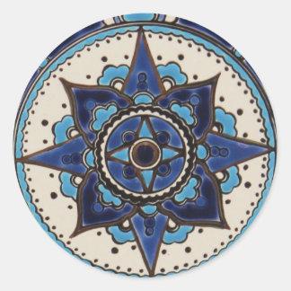 Design branco azul do azulejo do estilo árabe adesivo