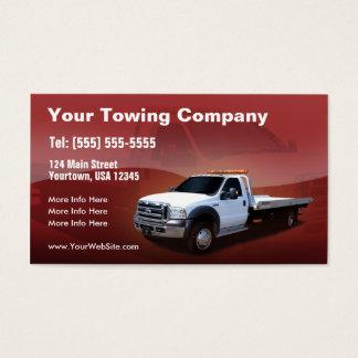 Design branco do caminhão de Reboque Empresa Cartão De Visitas