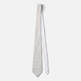 Design branco do cetim do falso gravata