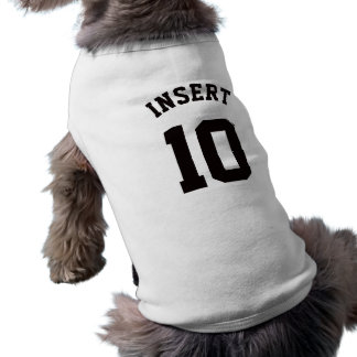 Design branco & preto do jérsei dos esportes dos camisa sem mangas para cachorro