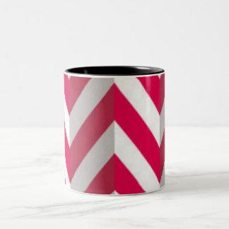 Design branco vermelho do impressão do teste caneca de café em dois tons