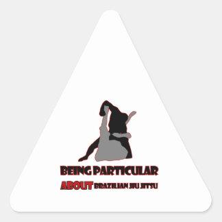 design brasileiro do jitsu do jiu adesivo triangular