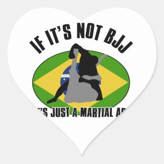 design brasileiro-jiu-jitsu adesivo de coração