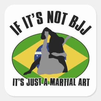design brasileiro-jiu-jitsu adesivos quadrados