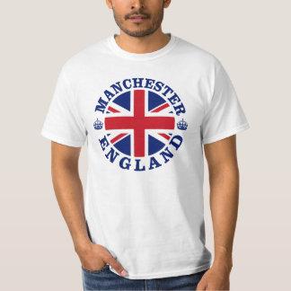 Design BRITÂNICO do vintage de Manchester T-shirts