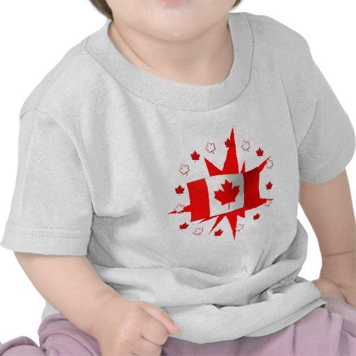 Design canadense da bandeira t-shirts