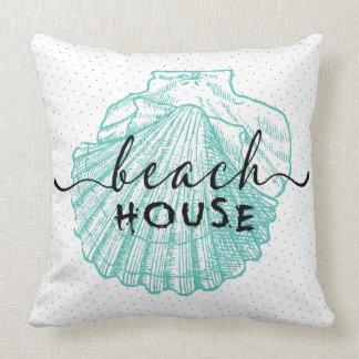 design cerceta-verde da tipografia da casa de almofada