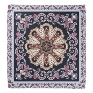 Design circular elegante roxo do ornamento bandana