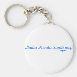 Design clássico de Baía Honda Sandspur Florida Chaveiro
