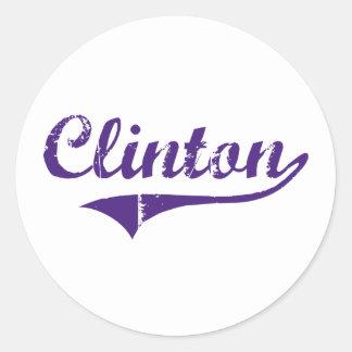 Design clássico de Clinton Louisiana Adesivo