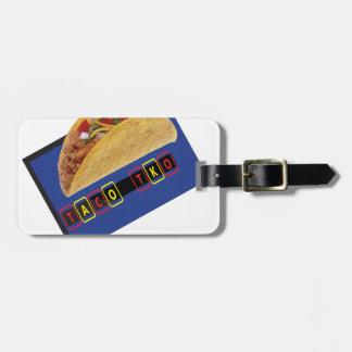 Design clássico do Taco do Taco TKO Tags De Mala