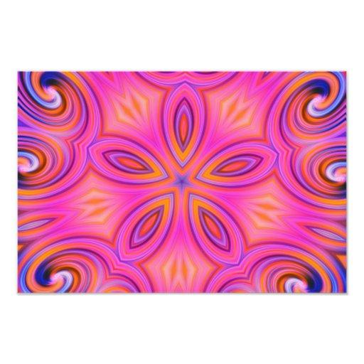 Design colorido da flor do caleidoscópio do Fracta Impressão Fotográficas