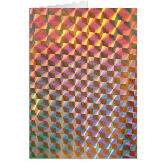 design colorido da fotografia holográfica do metal cartoes