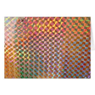 design colorido da fotografia holográfica do metal cartões