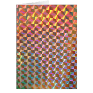 design colorido da fotografia holográfica do metal cartão comemorativo