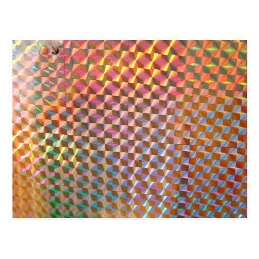 design colorido da fotografia holográfica do metal cartões postais