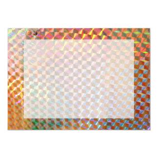 design colorido da fotografia holográfica do metal convite personalizados