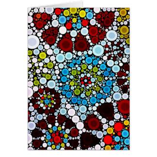 Design colorido das bolhas dos círculos do mosaico cartões
