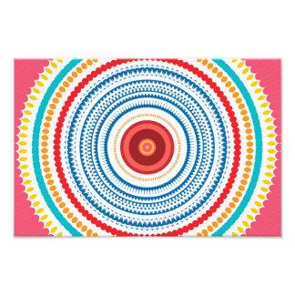 Design colorido do abstrato do caleidoscópio impressão de foto