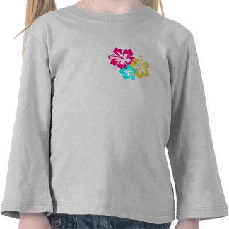 Design colorido do hibiscus camiseta