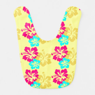 Design colorido do hibiscus babadores para bebes