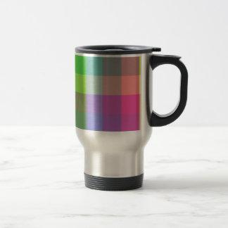 Design colorido do verificador caneca térmica