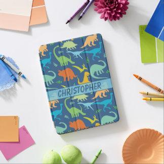Design colorido dos dinossauros a personalizar capa para iPad pro