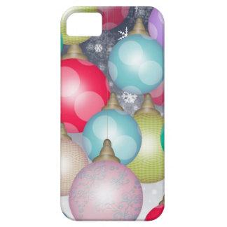 Design colorido e alegre dos enfeites de natal capa barely there para iPhone 5