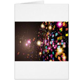Design colorido Sparkling do fundo Cartão Comemorativo