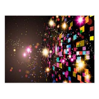Design colorido Sparkling do fundo Cartão Postal