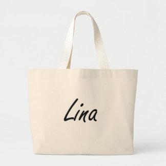 Design conhecido artístico de Lina Sacola Tote Jumbo