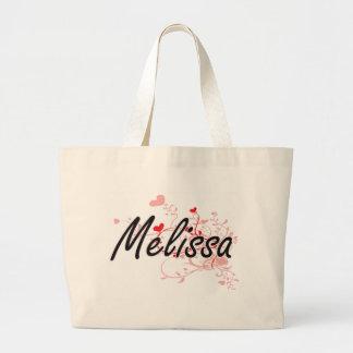 Design conhecido artístico de Melissa com corações Sacola Tote Jumbo