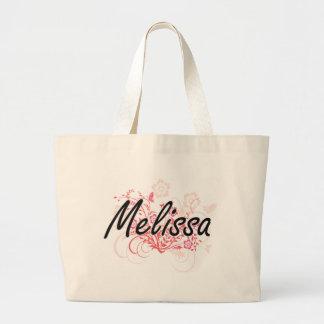 Design conhecido artístico de Melissa com flores Sacola Tote Jumbo