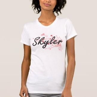 Design conhecido artístico de Skyler com corações T-shirt