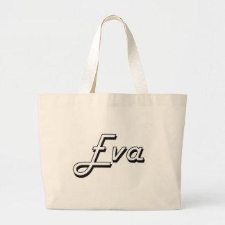 Design conhecido retro clássico de Eva Sacola Tote Jumbo