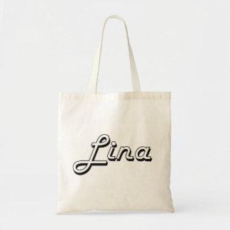 Design conhecido retro clássico de Lina Sacola Tote Budget