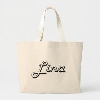 Design conhecido retro clássico de Lina Sacola Tote Jumbo