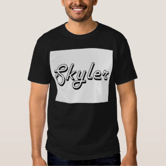 Design conhecido retro clássico de Skyler T-shirts