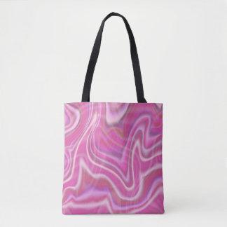 Design cor-de-rosa abstrato do redemoinho bolsa tote