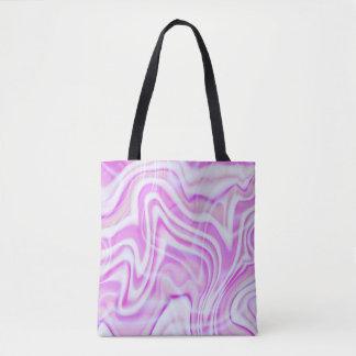 Design cor-de-rosa abstrato do redemoinho bolsas tote
