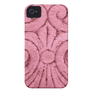 Design cor-de-rosa bonito do teste padrão da flor capinha iPhone 4