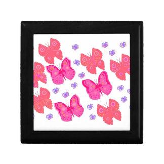 Design cor-de-rosa da borboleta de Prett Caixa De Persentes