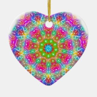 Design cor-de-rosa da mandala do paraíso ornamento de cerâmica coração