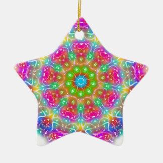 Design cor-de-rosa da mandala do paraíso ornamento de cerâmica estrela
