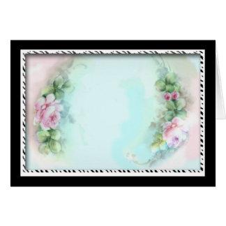 Design cor-de-rosa do estilo do Victorian dos rosa Cartões