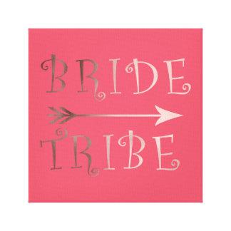 design cor-de-rosa do tribo da noiva da folha de